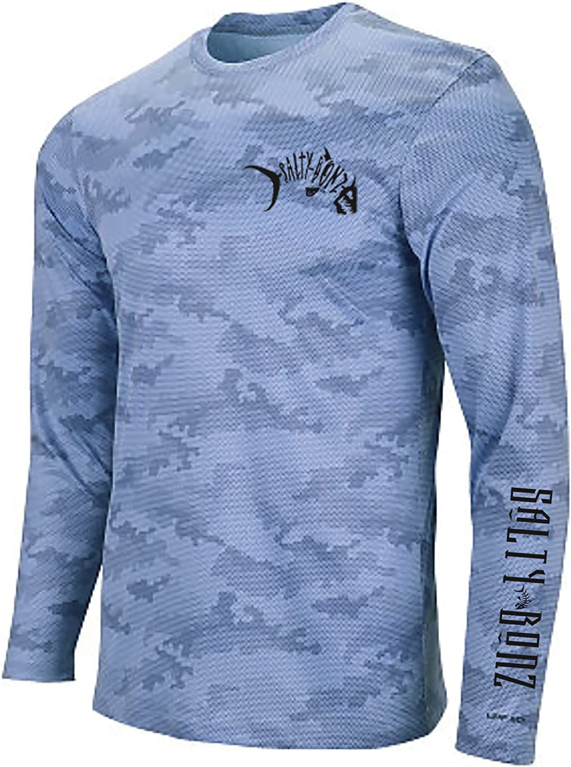 Salty Bonz Outlet ☆ Free Shipping Pompano Long Sleeve Moisture Fishing Shirt Portland Mall T- Wicking