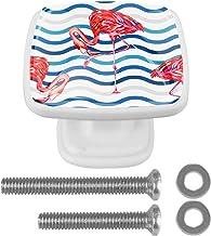 met Schroeven Witte Lade Trekt Handvat Wave Flamingo 30mm Kast Deurknoppen 4 Stks voor Kast Kaptafel Vierkant