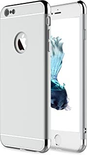 iPhone 6 Case, iPhone 6s Case,RORSOU 3 in 1 Ultra Thin and Slim Hard Case Coated Non Slip Matte Surface with Electroplate Frame for Apple iPhone 6 (4.7