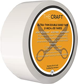 "The Craft Co. Premium 2"" Ultra-Thin Crafting Tissue Tape, Double-Side, Permanent, Paper Crafts, Die-Cutting, Scrap Bookin..."