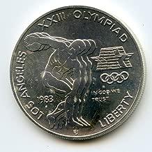 los angeles xxiii olympiad coin 1983