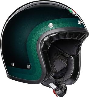 AGV Legends X70レトロオープンフェイススクーターオートバイヘルメット - Trofeo Green L