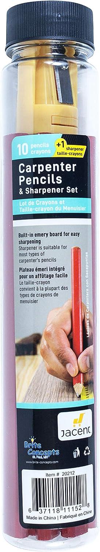 Jacent Carpenter Omaha Mall Pencils and Finally resale start Sharpener Count 10 Set per