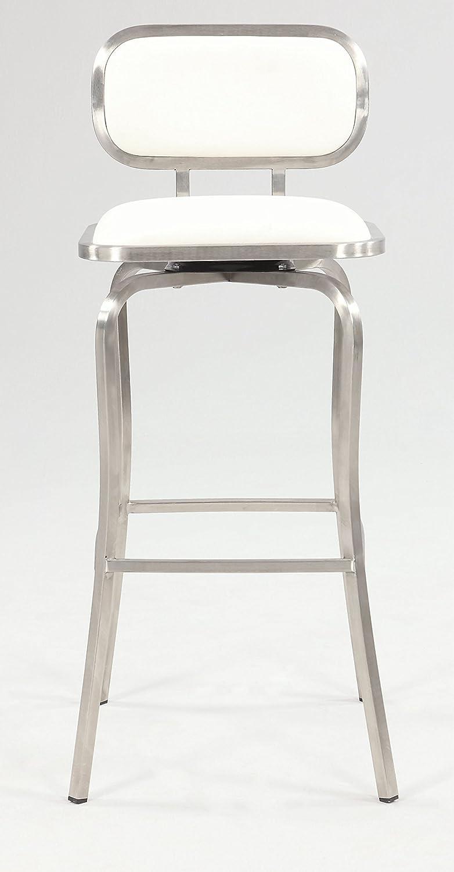 Milan Tanvi Modern Swivel Bar Stool, White