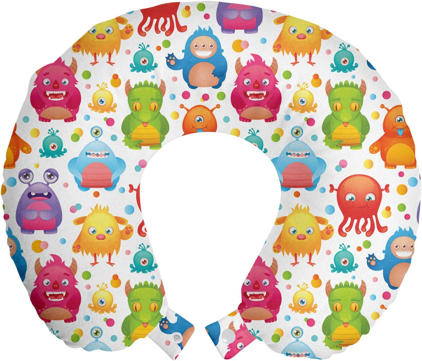 Ranking TOP13 Ambesonne Alien New color Travel Pillow Neck on Monsters Rest Mutant Colo