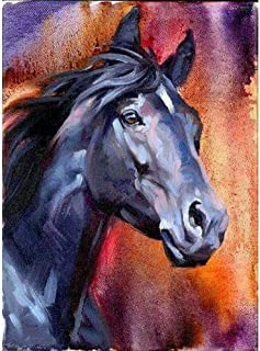 DIY 5D Diamond Painting by Number Kits,Painting Cross Stitch Full Drill Embroidery Pictures Arts Home Decor Horse 11.8x15.7in 1 Pack by Light S Direct