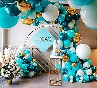 Beaumode DIY Dark Teal and Tiffany Balloon Garland for 1st Communion Baby Shower Bridal shower Birthday Balloon Arch Celeb...