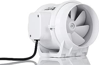 Hon&Guan Extractor Ventilador de Aire en Línea Super Ligero y Silencioso - 218m³/h (125mm)