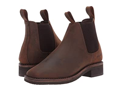 Old West Kids Boots Carson (Big Kid) (Brown) Cowboy Boots