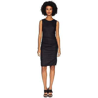 Nicole Miller Cross-Back Tuck Dress (Black) Women