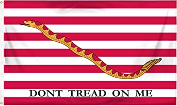 Online Stores 1st Navy Jack Don't Tread On Me Printed Polyester Flag, 3 by 5-Feet