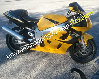 For SRAD GSX-R600/750 96-99 GSX-R 600 750 1996 1997 1998 1999 Yellow Black Motorcycle Aftermarket Kit Fairing Set