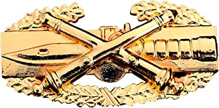 Field Artillery Combat Action Badge US Army FA CAB Military Golden Insignia Pin