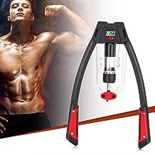 KKTECT Fitnessgereedschap, twisterstang, verstelbaar hydraulisch vermogen, krachttrainingsstang 10-200 kg, voor fitnessoef...