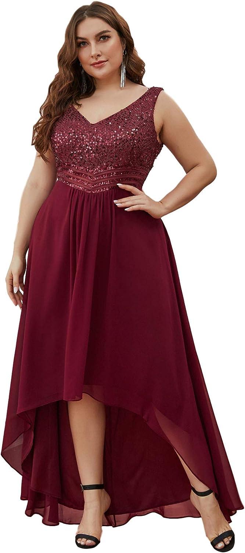 Ever-Pretty Womens V Neck Seuiqn Empire Waist Maxi Formal Evening Party Dress 0410-PZ