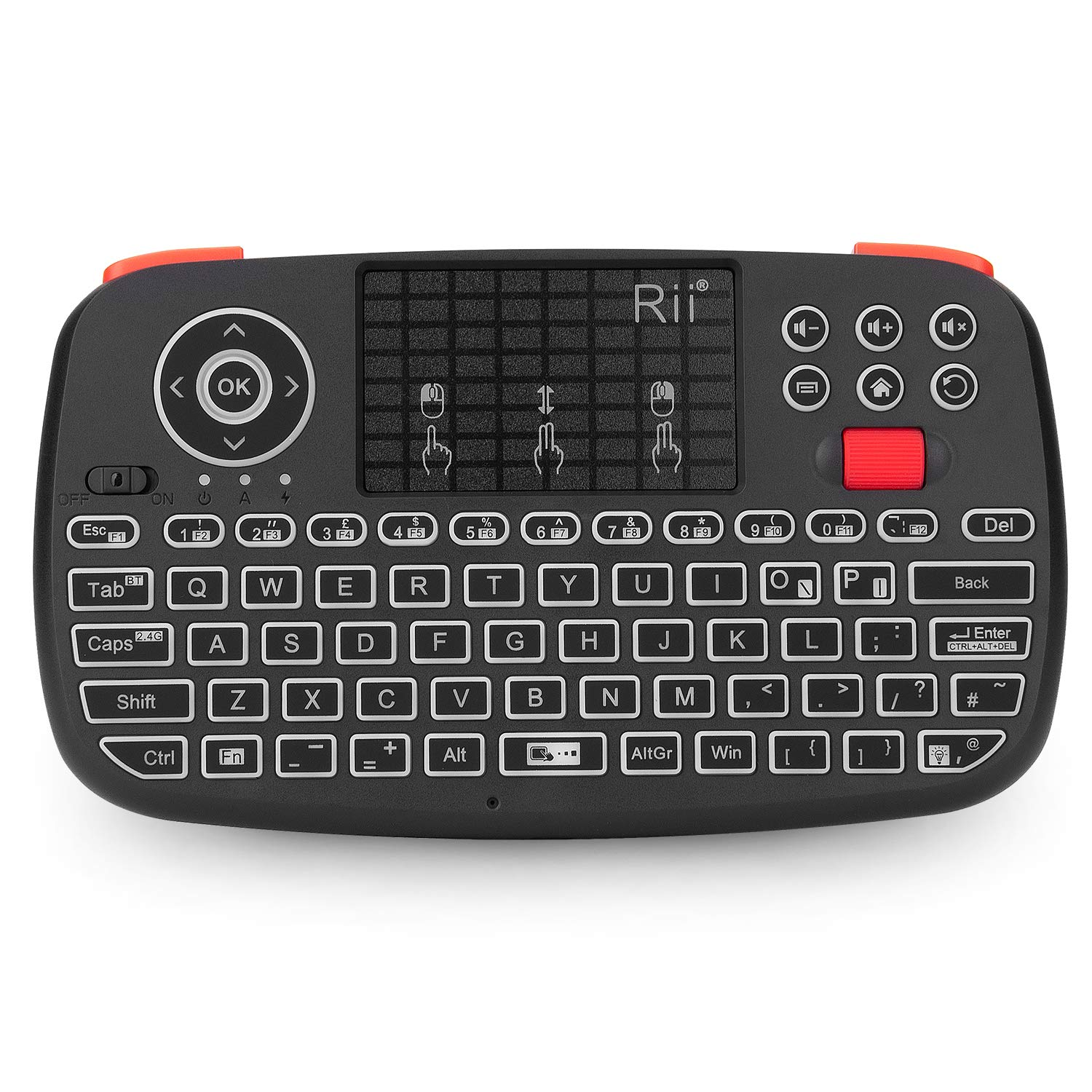 Simple vsky?RIII8 Air Mouse Pad Remote Control 2.4GHz Wireless Mouse Keyboard Android XBMC PS4 Raspberry Pi With Touchpad and Multimedia Keys for HTPC PS3 XBOX360 Android TV Box: Amazon.es: Electrónica