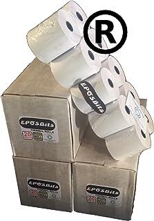 eposbits® marca rollos para que se ajuste a Casio pequeño dibujar TE-M80, TEM80te m80TEM-80, TM80–80TM-80caja registradora–60rollos