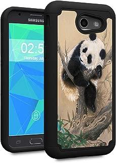 Galaxy J3 2017 case,J3 Prime/J3 Emerge/Sol 2/J3 Eclipse/J3 Mission Case,Spsun Dual Layer Hybrid Hard Protector Cover Anti-Drop TPU Bumper for Samsung Galaxy J3 2017,Lovely Chinese Panda