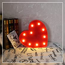 Heart Marquee Light GUOCHENG Decor Light LED Night Light Battery Operated Table Lamps on Wall for Party Children Kids Bedroom Lighting Decoration Birthday£¬Christmas Gifts for Kids (Red Heart)