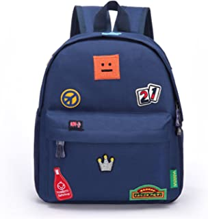 Willikiva Kids Children insignia Bags for Toddler Backpack for Kindergarten or Prescool Girls Boys (Dark Blue, Small)