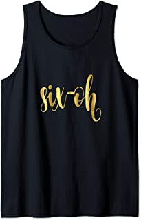 60th Six-Oh Birthday Gift Party Hashtag Sixty 60 Wife Tank Top