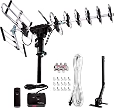 [Newest 2020] Five Star Outdoor Digital Amplified HDTV Antenna - up to 200 Mile Long Range,Directional 360 Degree Rotation...