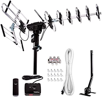 [Newest 2020] Five Star Outdoor Digital Amplified HDTV Antenna - up to 200 Mile Long Range,Directional 360 Degree Rot...