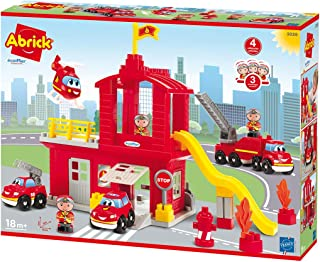 Ecoiffier Toys Large Abrick Fire Station Made in France 3026