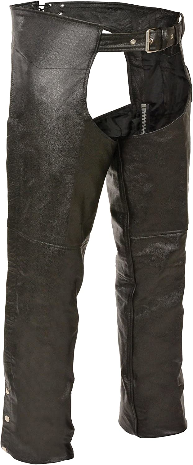 Choice Event Biker High quality new Leather Basic Chaps Plain Lined