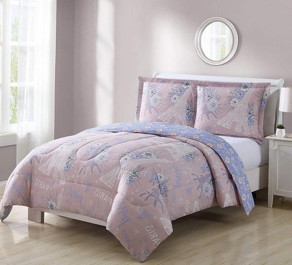 Kaputar Juvy Paris Bouquet Blush/Lavender Comforter Set | Model CMFRTRSTS - 5587 | Full