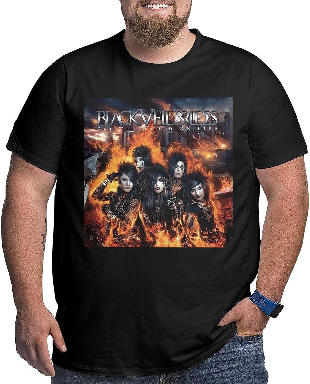 lwufnok Black Veil Brides Big Size Men's t-Shirt Round Neck Short Sleeve T-Shirt