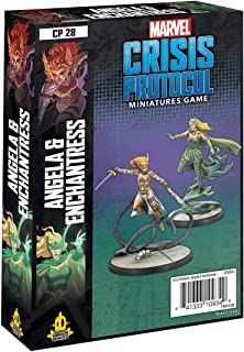 ATOMIC MASS GAMES Marvel Crisis Protocol Angela & Enchantress Character Pack   Marvel Miniatures Strategy Game for Teens a...