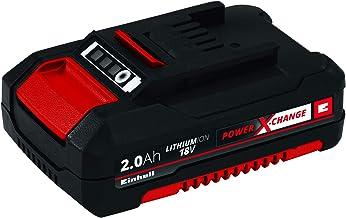 Einhell 4511395 Batería de Repuesto de 2, 18 V, Negro, Rojo, 2.0 Ah, duración de carga: 30 minutos