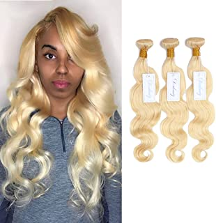 Dorabeauty Human Hair Bundles #613 Platinum Blonde Bundles Body Wave 100% Brazilian Human Hair 24 26 28 inch