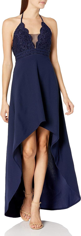 Speechless Women's Halter Sleeveless High-Low Party Dress