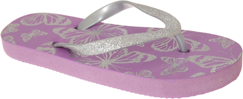 Sand Rocks Mädchen Glizernde Schmetterling Flip Flops FLIP301