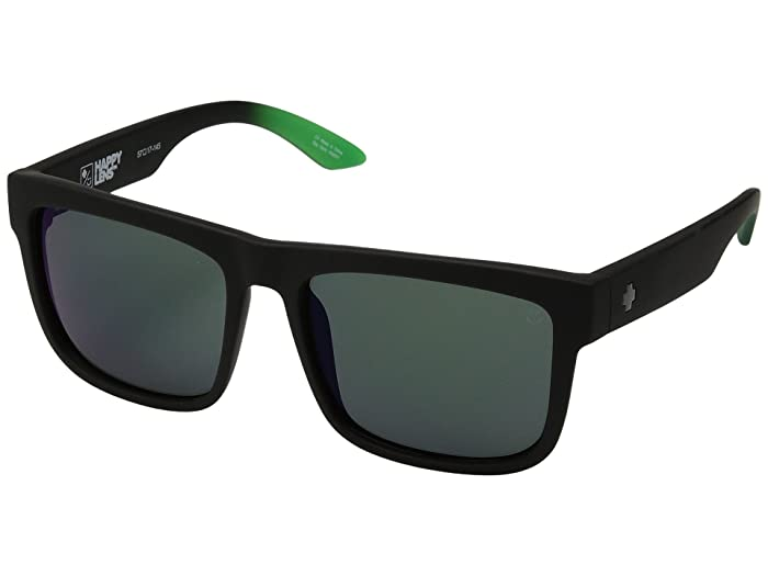 Spy Optic Discord (Discord Soft Matte Black/Green Fade/Happy Gray/Green/Green Flash) Sport Sunglasses
