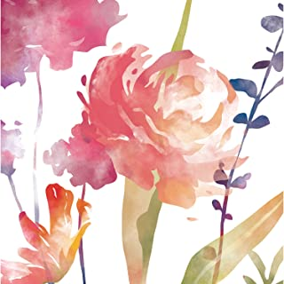 Cypress Home Boho Watercolor Floral Paper Luncheon Napkins, 20 count