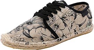 Chaussures décontractées pour Hommes Chaussures en Toile à Lacets d'été à la Mode Chaussures Plates légères Confortables p...
