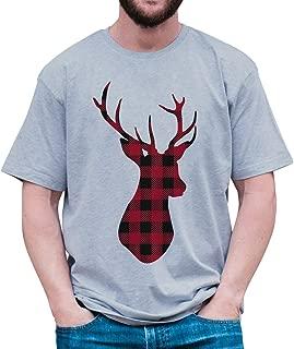 Custom Party Shop Mens Plaid Deer Christmas T-Shirt