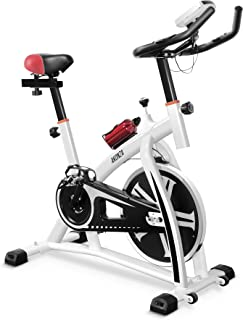 AKONZA Magnetic Exercise Bikes Stationary Home Workout Belt Drive Cycling Bicycle with LED Monitor Equipment, Purple Creation Date  11/22/2018, 3:15:56 AM IST