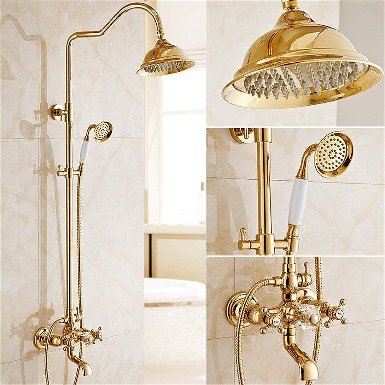 Volle Kupfer aureate Dusche dusche Klage zu Wand Stil archaize Sprühdüsen Duschkopf sprinkler Dusche, B