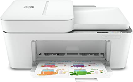 -HP DeskJet 4120e Stampante Multifunzione, USB, 33.2 x 42.8 x 20cm, Bianco/Grigio-aanbieding