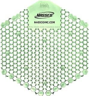 Nassco Wave 3D Enzymatic Urinal Screen 10 per Box (2pk Cucumber Melon)