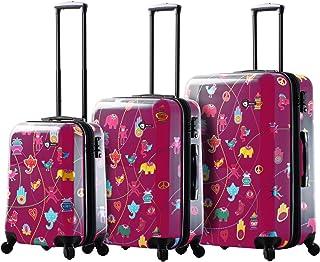 مجموعة حقائب السفر الدوارة ميستيكو ذات الجانب الصلب M1306-03pc-pnk Italy Mistico من Mia Toro