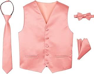 Spring Notion Boys' 4-Piece Satin Tuxedo Vest Set
