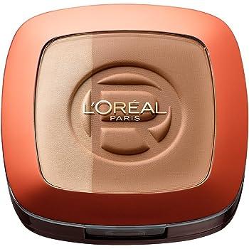L'Oréal Paris Make Up Glam Bronze Duo Sun Powder, 102 Brunette Harmony - 2 in 1 Bronzepuder für den Sommer-gebräunten Look - für dunkle Hauttypen, 1er Pack (1 x 11g)