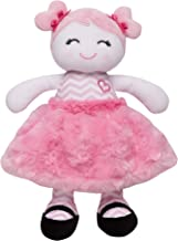 Baby Starters Plush Snuggle Buddy Baby Doll, Sugar N Spice Marisa with Chevron Stripes