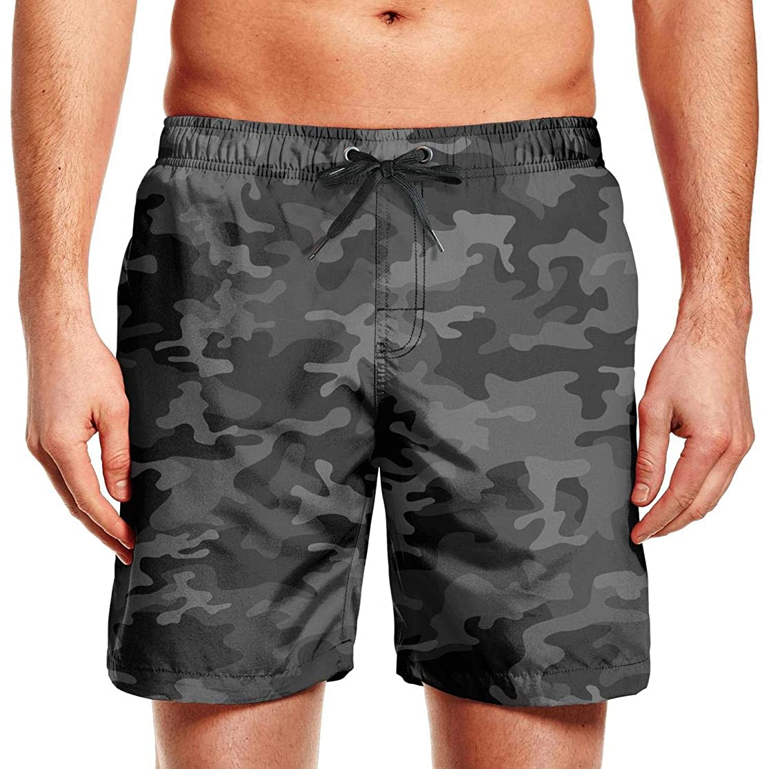 NC/Ball Men's Swimming Trunks Beach Board Shorts Pocket Quick Dry Colorful Tropical Short Pants Beachwear idauhruf7