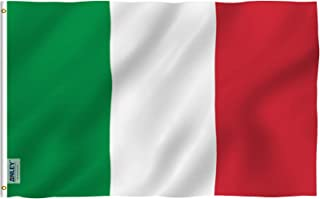Anley Fly Breeze 3x5 Foot Italy Flag - Vivid Color and UV Fade Resistant - Canvas Header and Double Stitched - Italian Flags Polyester with Brass Grommets 3 X 5 Ft